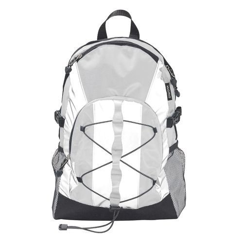 Huomio reflective white backpack
